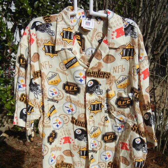 Mens NFL Pittsburgh Steelers Hawaiian shirt size L.  M 5ac2e5962ae12f69d596fa8a b7d364c98